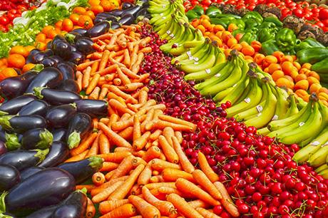 produce in bins