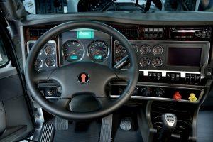 inside semi truck cockpit cab
