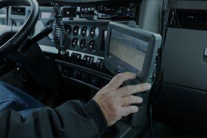 slider background truck driver technology