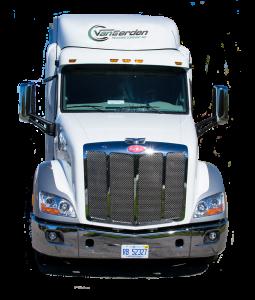 van eerden trucking semi truck front on home page
